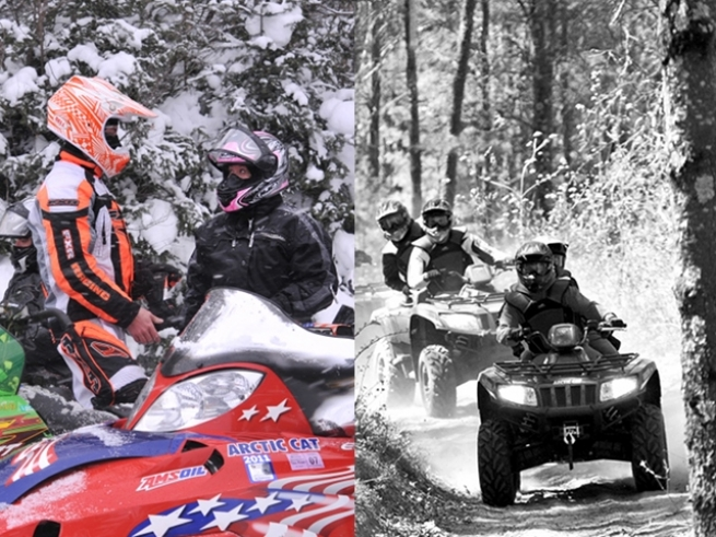 snowmobiling or atving