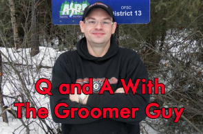 groomer guy sign
