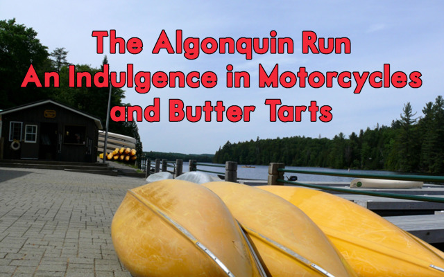 Algonquin Run: An Indulgence of Motorcycling and Butter Tarts