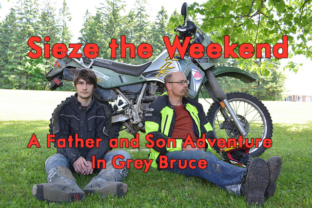 Sieze the Weekend Father Son Adventure Grey Bruce Title