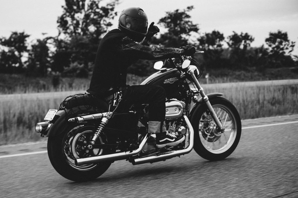 harley davidson black and white